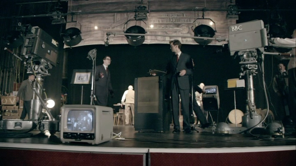 ERIC & ERNIE : TELEVISION STUDIO SET 1960S